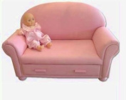 Giftmark 6700P Child's Upholstered Chaise Lounge with Drawer- Pink