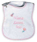 Dee Givens & Co-Raindrops 6572 Nana Loves Me Medium Bib - Pink