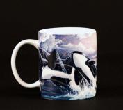 Euland China MA0-002KW Set Of Two 350ml Mugs - Killer Whales Jump