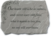 Kay Berry- Inc. 91820 Our Hearts Still Ache - Memorial 18 Inches x 13 Inches