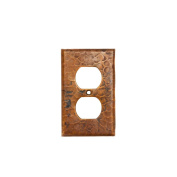 Premier Copper Products SO2 Switchplate Single Duplex with 2 Hole Outlet Cover - Oil Rubbed Bronze