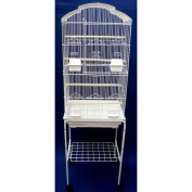 YML 17280cm Bar Spacing Tall Shall Top Bird Cage with Stand, 46cm x 36cm /Small, White