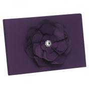 Hortense B Hewitt 11233 Floral Fantasy Eggplant Guest Book