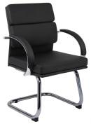 Boss Caressoft Plus Guest Chair, 90cm H x 60cm W x 60cm D, Black