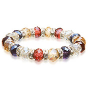 Alexander Kalifano BLUE-BGG-07 Gorgeous Glass Bracelet - Multi-Coloured