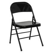 Flash Furniture HF3-MC-309AS-BK-GG Triple Braced& Double Hinged Black Metal HERCULES&trade- Folding Chair