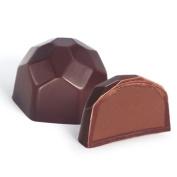 Astor Chocolate UFS451 Belgian Dark Parve Hazelnut Chocolate Truffle - 48 Pieces