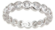Plutus kkr6748b 925 Sterling Silver Eternity Ring Size 7