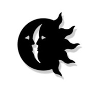 Village Wrought Iron MMB-MAG-62 Sun-Moon Magnet - Black