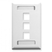 ICC ICC-IC107S03WH Faceplate Id 1-Gang 3-Port White