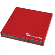 PC Treasures 07184 External DVD-RW Drive-red