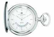 Charles-Hubert Paris 3900-W Brass Hunter Case Quartz Pocket Watch