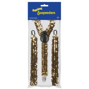 Beistle 60812-GD Sequined Suspenders - Gold