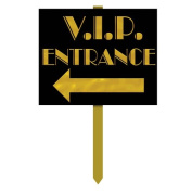 Beistle 54912 VIP Entrance Yard Sign - Pack of 6