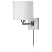 Dainolite DMWL112-SC 1 Light Cast Metal Swing Arm Lamp - Satin Chrome