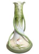 Unicorn Studios AP20059AA Triple Lotus Flower Leaves Porcelain Vase