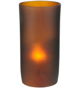 Meyda Tiffany 114025 7.6cm . W x 15.2cm . H Cylinder Frosted Amber Replacement Shade