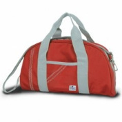 Sailor Bags 319-RG Duffel Purse True Red with Grey Trim