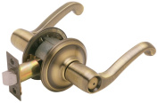 Schlage F40VFLA609 Antique Brass Flair Lever Privacy Set