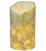 Meyda Tiffany 121497 4 in. W x 7 in. H Jadestone-Light Green Uneven Top Candle Cover