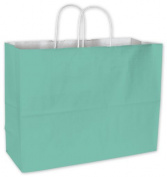 Bags & Bows by Deluxe 15-160612-89 Aqua Cotton Candy Shoppers - Case of 250