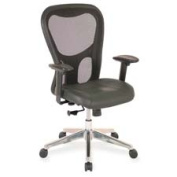 Lorell LLR85036 Executive High-Back Chair- 24-.88in.x23-.63in.x44-.13in.- Black