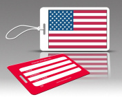 Insight Design 770594 TagCrazy Luggage Tags- United States Flag- Set of Three