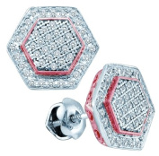 Gold and Diamonds EF8028-W 0.30CT-DIA MICRO-PAVE EARRING