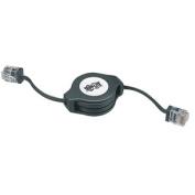 Tripp Lite Network Retractable Ethernet Patch Cable 4ft 1 x RJ-45 1 x RJ-45 Network Retractable Cable Black N009-004-R