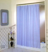 Excell 70in. X 72in. White Luxury Glitter Vinyl Shower Curtain 1ME-40O-470-100
