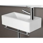 ALFI brand AB108TB 17 in. Squared Towel Bar for AB108 Bathroom Sink - Chrome