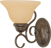 Nuvo Lighting 60-1032 Castillo - 1 Light - 20.3cm . - Wall Fixture - with Champagne Linen Washed Glass