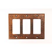 Premier Copper Products SR3 Copper Switchplate Triple Ground Fault-Rocker Cover GFI - Oil Rubbed Bronze