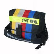 Blancho Bedding MB-B333-BLACK Stay Real - Black Multi-Purposes Messenger Bag / Shoulder Bag