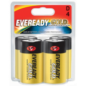 Energizer - Eveready A95BP-4 4 Count D Cell Alkaline Batteries