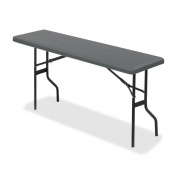 Iceberg ICE65357 IndestrucTable TOO 1200 Series Folding Table, 110kg Capacity, 150cm Length by 46cm Width by 70cm Height, Charcoal