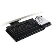 3M Commercial Office Supply Div. MMMAKT80LE Adjustable Keyboard Tray- Height Adjusts- 26-.25in.x10-.50in.- BK