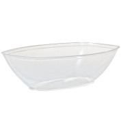 Party Dimensions 60243 Oval Clear Luau Serving Bowl - 50 Per Case