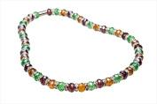 Alexander Kalifano WHITE-NGG-04 White Tag Gorgeous Glass Necklaces - Multi-Coloured