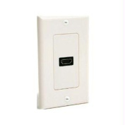 Single Outlet Female HDMI Wall Plate White