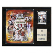 C & I Collectables 1215WS11GD MLB 12 X 15 Cardinals 2011 World Series Limited Edition Champions Plaque