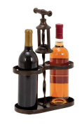 Woodland Import 93738 Metal Wine Holder with Traditional Cork-Opener Accent