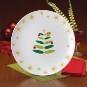 Rachael Ray 58341 Holiday Hoot 36cm Round Platter