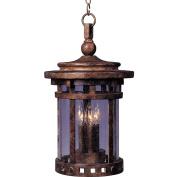 Maxim Lighting 40039CDSE Santa Barbara VX 11 W 3-Light Outdoor Hanging Lantern - Sienna