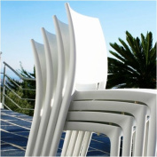 Compamia ISP025-WHI Maya Chair - White- Set of 2