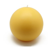 Zest Candle CBZ-028 4 in. Yellow Ball Candles -2pc-Box