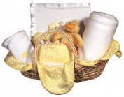 Raindrops Sleepy Time Bear Moses Basket Blanket Gift Set, Yellow