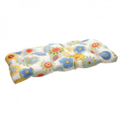 Pillow Perfect 450483 Outdoor Multicolored Floral Wicker Loveseat Cushion