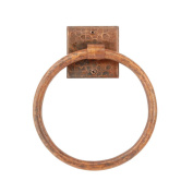 Premier Copper Products TR7DB 7 in. Hand Hammered Copper Towel Ring