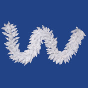 Vickerman A104214LED 9 ft. X 14 in. Crystal White Garland 90LED Wht